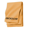Beach Towel Orange & Black GOODE logo