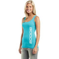 GOODE - Women's Rib Tank Teal/White