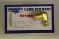 "Schnitz Fitting Brass 90^ 1/4"" Female Pipe x 1/4"" Air Line"