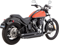 Vance & Hines Big Shots Staggered Black Exhaust Harley Davidson Softail FXS/FLS/FLST (12-15)