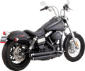 Vance & Hines Big Shots Staggered Black Exhaust Harley Davidson Dyna (12-15)
