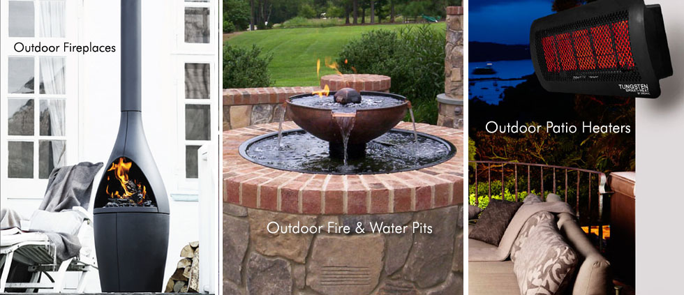 outdoor fireplaces, firepits
