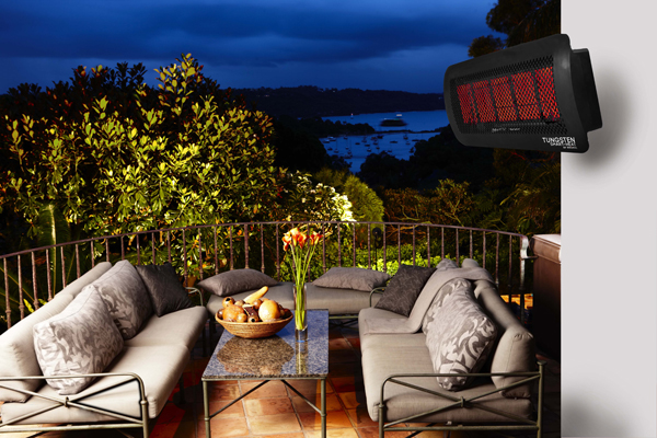 Tungsten outdoor gas heaters
