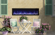 Amantii BI-60-DEEP – 60″  x 12″  – Outdoor Electric Fireplace