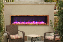 Sierra Flame VISTA-BI-60-7 Slim Indoor or Outdoor Electric Fireplace