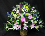 A large basket for that special tribute, when you need something truly magnificent. flower selection will vary depending upon the season.