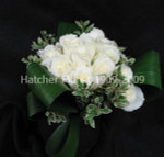 Creamy white roses from our Eco supplier Denmar. The aspidistra leave look like ribbons as they circle the bouquet. Delivery to Toronto, Thornhill, Markham, Aurora, Richmondhill, North York and the GTA.