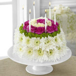 "Flowers make the "" cake "" for you to enjoy! Send this cake and you will be the hit of the party. Just water from the top and sides everyday. Keep in a cool place, away from sun and heat."