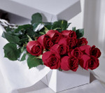 Red Freedom roses in a white box.  60 cm roses and greenery. Order today for Toronto, North York, Vaughan, Markham, Scarborough and the GTA. We need extra time for office deliveries. Friday will be very busy so, please order all office deliveries by February 12th 2014.