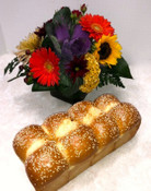 Challah and Floral Cube for Rosh Hashanah