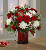 Holiday Wishes Lantern Bouquet