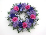 Artificial Hydrangea and Roses Wreath