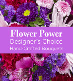 Purple Colours Florist Designed Bouquet