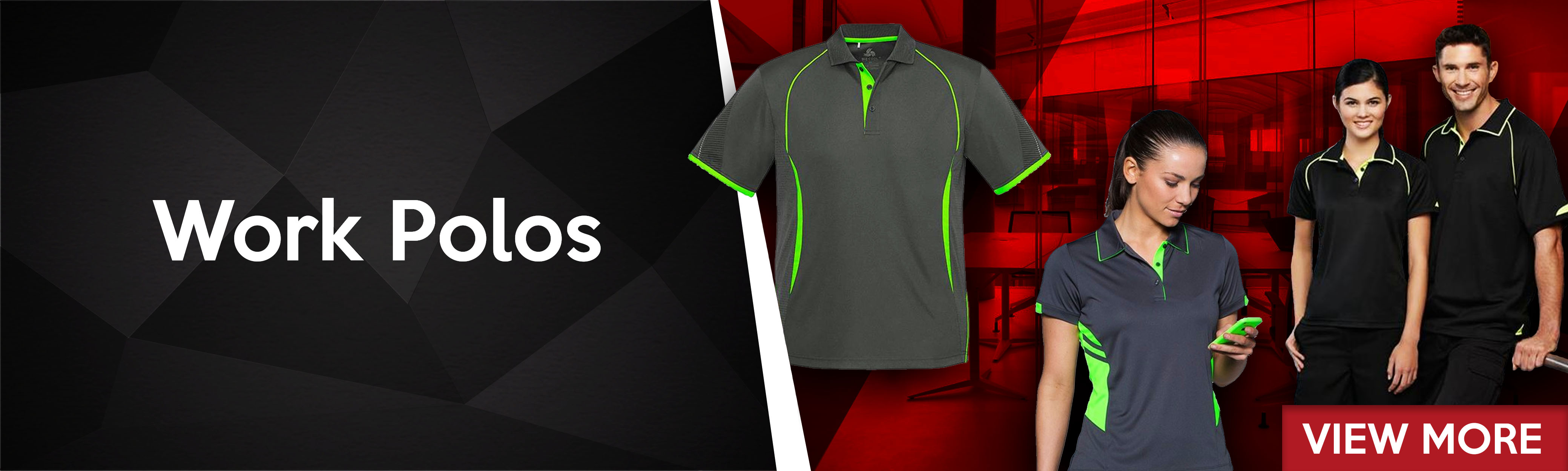 Onlineworkwear provide a comprehensive range of Work Polos, Office Wear & Work Shirts.