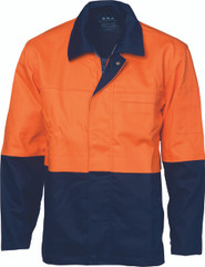 3431 - PATRON SAINT FLAME RETARDANT TWO TONE DRILL WELDER'S JACKET > 311 GSM