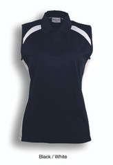 CP0931 - Bocini Team Essentials- Ladies Sleeveless Contrast Polo