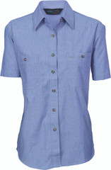 4105 - LADIES COTTON CHAMBRAY SHIRT - S/S