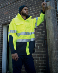 V7015 - Hi Vis Base Rain Jacket Long Sleeve
