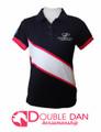 Pink Diagonal Stripe Polo Shirt