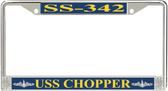 USS Chopper SS-342 License Plate Frame