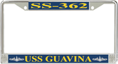 USS Guavina SS-362 License Plate Frame