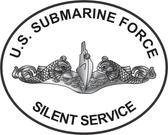 SILENT SERVICE Oval Decal Enlisted or Officer