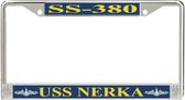USS Nerka SS-380 License Plate Frame
