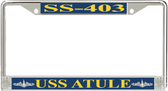 USS Atule SS-403 License Plate Frame