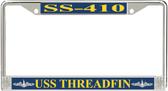 USS Threadfin SS-410 License Plate Frame