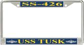 USS Tusk SS-426 License Plate Frame