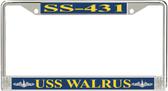 USS Walrus SS-431 License Plate Frame