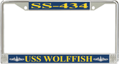 USS Wolffish SS-434 License Plate Frame