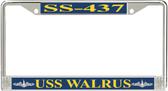 USS Walrus SS-437 License Plate Frame