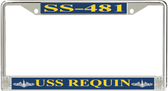 USS Requin SS-481 License Plate Frame