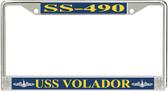 USS Volador SS-490 License Plate Frame