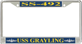 USS Grayling SS-492 License Plate Frame