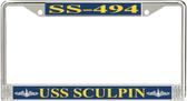 USS Sculpin SS-494 License Plate Frame