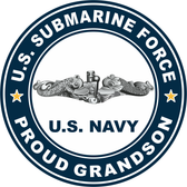 US Submarine Force Proud Grandson Decal