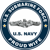 US Submarine Force Proud Wife Decal