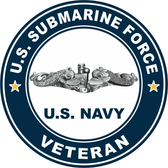 US Submarine Force Veteran Decal