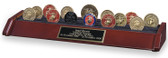 3 Row Military Challenge Coin Rack