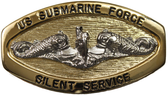 Enlisted Gold Oval Silent Service Buckle