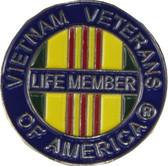 "Vietnam Veterans of America (VVA) ""Life Member"" Lapel Pin"