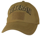 Veteran Coyote Brown Cap with Hook and Loop Front
