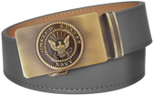 U.S. Navy Grey Full Grain Leather Slide Belt