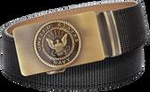 U.S. Navy Black Nylon Weave Slide Belt