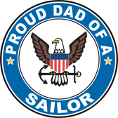 Proud Dad of a Sailor U.S. Navy Round Decal
