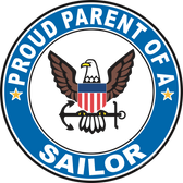 Proud Parent of a Sailor U.S. Navy Round Decal