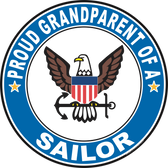 Proud Grandparent of a Sailor U.S. Navy Round Decal
