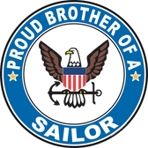 Proud Brother of a Sailor U.S. Navy Round Decal